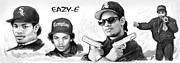 Hip Drawings - Eazy-E art drawing sketch poster by Kim Wang