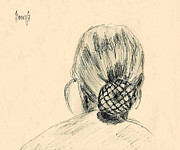 Hair Drawings - Eb by Sam Sidders