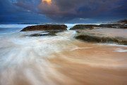 Storm Prints - Ebb Tide Sunrise Print by Mike  Dawson