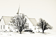 Clay Center Prints - Ebenezer Church Print by Tracy Salava
