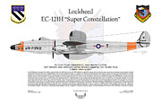 Air Wing Graphics Prints - EC-121H Super Constellation Print by Arthur Eggers
