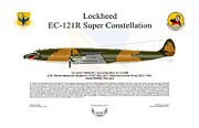Lockheed Aircraft Prints - EC-121R BatCat 6721498 Print by Arthur Eggers