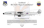 Jet Artwork Prints - EC-121T Warning Star Print by Arthur Eggers