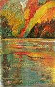 Anne-elizabeth Whiteway Prints - Echo Lake  Print by Anne-Elizabeth Whiteway