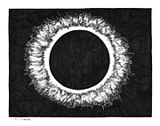 Eclipse Drawings - Eclipse by Karen Sirard