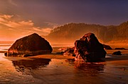 Oregon State Art - Ecola Beach Sunset by Adam Jewell