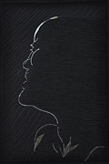 Silhouette Tapestries - Textiles Posters - Ecstasy at Midnight Poster by Jo Baner