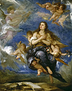 Famous Artists - Ecstasy of St Magdalena by Jose Claudio Antolinez