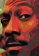 Tradigital Art Prints - Eddie Murphy Print by Byron Fli Walker