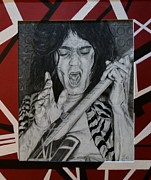 Van Halen Drawings - Eddie by S G Williams