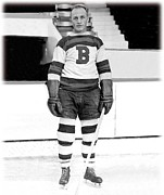 Ice Skating Photos - Eddie Shore Hockey Legend by Sanely Great