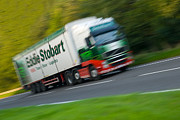 Speeding Truck Framed Prints - Eddie Stobart Lorry Framed Print by Christopher Elwell and Amanda Haselock