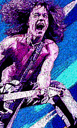 Rock Star Portraits Digital Art - Eddie Van Halen - Hot for Teacher by John Travisano