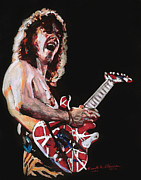 Van Halen Pastels Originals - Eddie Van Halen by Kenneth  Williams