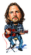Pearl Jam Paintings - Eddie Vedder by Art