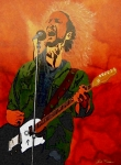 Collectible Mixed Media Prints - Eddie Vedder-Eddie Live Print by Bill Manson