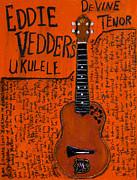 Eddie Vedder Ukulele Print by Karl Haglund