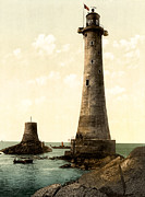 Lighthouse Digital Art - Eddystone Lighthouse Plymouth England by Digital Reproductions