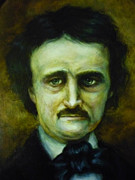 Edgar Allan Poe Paintings - Edgar Allan Poe by June Ponte