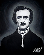 Writer Painting Originals - Edgar Allan Poe by Tom Carlton