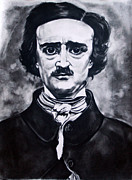 Edgar Drawings - Edgar Allen Poe by Kim Chigi