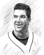 Edgar Drawings Posters - Edgar Martinez - Seattle Mariners Poster by Lou Ortiz