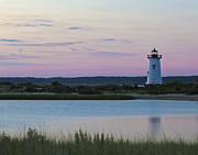 Edgartown Lighthouse Framed Prints - Edgartown Harbor Lighthouse Framed Print by Jack Nevitt