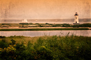 Sailboat Photos Framed Prints - Edgartown Lighthouse Framed Print by Bill  Wakeley