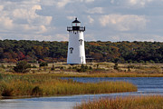 Vineyard Art Posters - Edgartown Lighthouse Poster by Juergen Roth