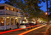 Vineyard Art Posters - Edgartown Nightlife Poster by John Greim