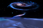 Galaxies Digital Art - Edge of Forever by Bill  Wakeley