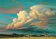 Edge Of The Prairie- Pronghorn Print by Paul Krapf