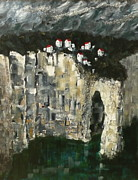 Overhang Painting Framed Prints - Edge of the Sea Framed Print by Jo Appleby