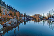 Alpine Lake Framed Prints - Edge of the Tarn Framed Print by Mike Reid