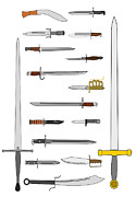 Bayonet Prints - Edged Weapons Print by John Orsbun