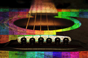 All - Edgy Abstract Eclectic Guitar 21 by Andee Photography