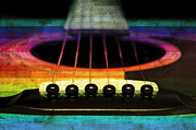 All - Edgy Abstract Eclectic Guitar 23 by Andee Photography