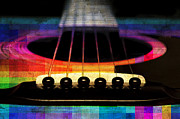 All - Edgy Abstract Eclectic Guitar 24 by Andee Photography