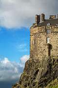 Ancient Architecture Prints - Edinburgh Castle detail Print by Jane Rix