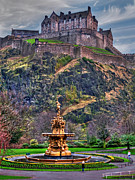 Princes Posters - Edinburgh Castle Poster by Rod Jones