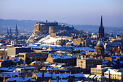 Craig Brown Art - Edinburgh Winter by Craig Brown