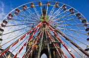 Father Christmas Prints - Edinburghs Christmas Ferris Wheel Print by Ross G Strachan