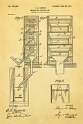 Edison Magnetic Separator Patent Art 1901 Print by Ian Monk