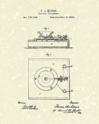 Edison Drawings Prints - Edison Telephone 1879 Patent Art Print by Prior Art Design
