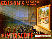 Thomas Mixed Media Posters - Edisons Vitascope Poster by Charles Ross