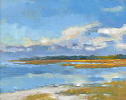 South Carolina Low Country Marsh Paintings - Edisto Study 10 by Todd Baxter