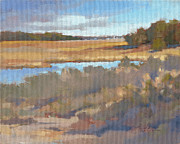 South Carolina Low Country Marsh Paintings - Edisto Study 11 by Todd Baxter