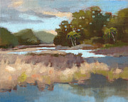 South Carolina Low Country Marsh Paintings - Edisto Study 12 by Todd Baxter