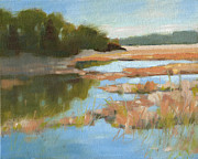 South Carolina Low Country Marsh Paintings - Edisto Study 5 by Todd Baxter