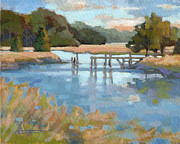 South Carolina Low Country Marsh Paintings - Edisto Study 6 by Todd Baxter